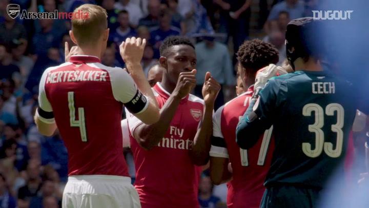Arsenal celebrate Community Shield win over Chelsea
