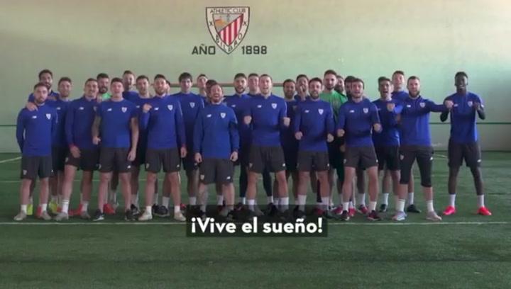 """El Athletic """"vive el sueño"""" de la Copa en familia"""
