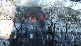 Catorce desaparecidos en un incendio de un edificio en Ucrania
