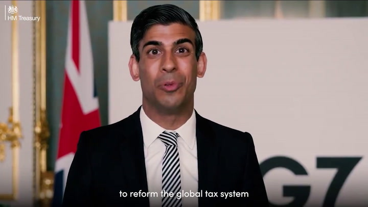 Rishi Sunak announces 'historic' deal to force tech giants to pay more tax