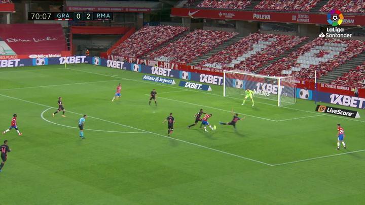 Gol de Jorge Molina (1-2) en el Granada 1-4 Real Madrid