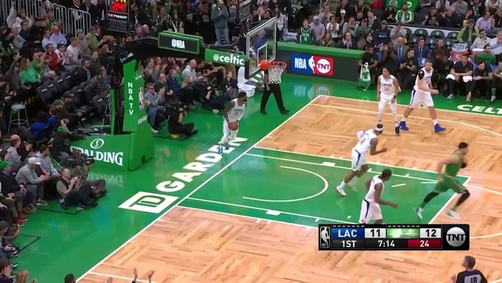 Jayson Tatum jugador destacado de la jornada de la NBA (13/02/2020)