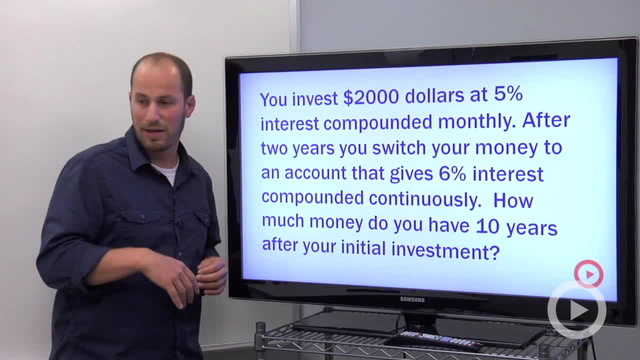 Compound Interest (Continuously) - Problem 3