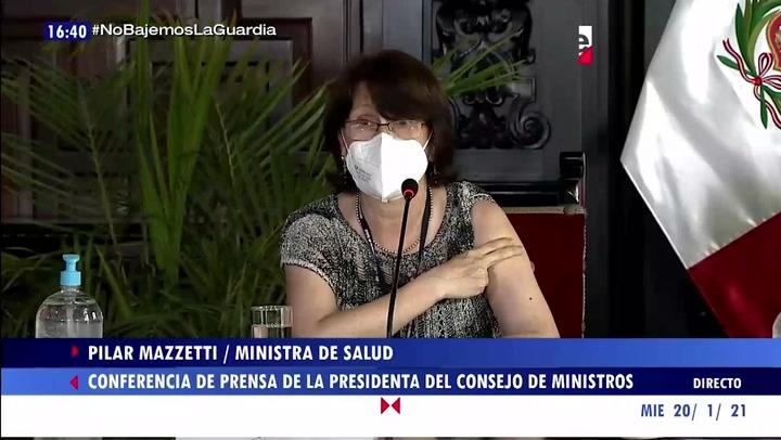 """Pilar Mazzetti señala que sí se vacunará: """"Me la pondría ayer"""""""