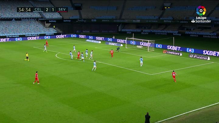 Gol de Fernando (2-2) en el Celta 3-4 Sevilla