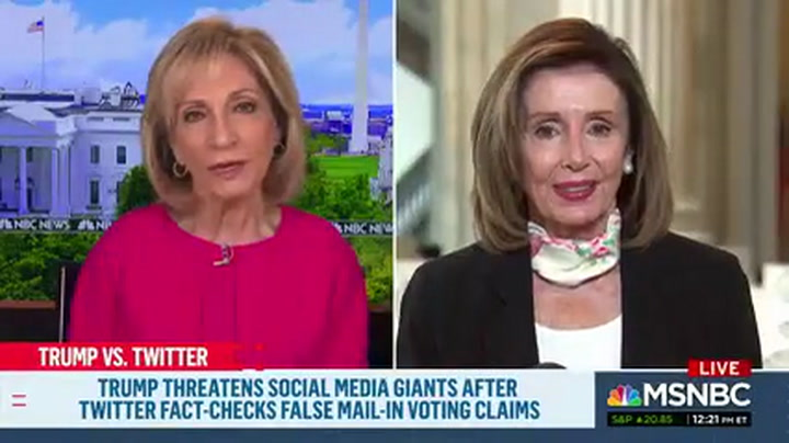 Pelosi: Not Wearing a Mask Is 'Very Selfish' – Trump Is a 'Terrible Example'