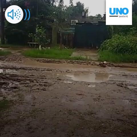 Las calles de barrio Nueva Pompeya tras las lluvias