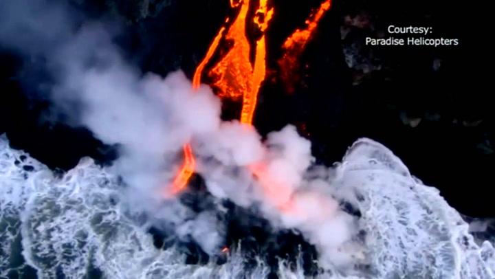 Når lava møter vann: Vakrere blir det ikke