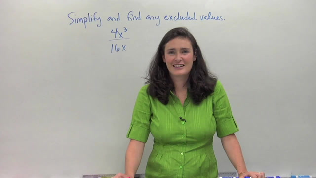 Simplifying Rational Functions with Factoring and GCFs - Problem 1