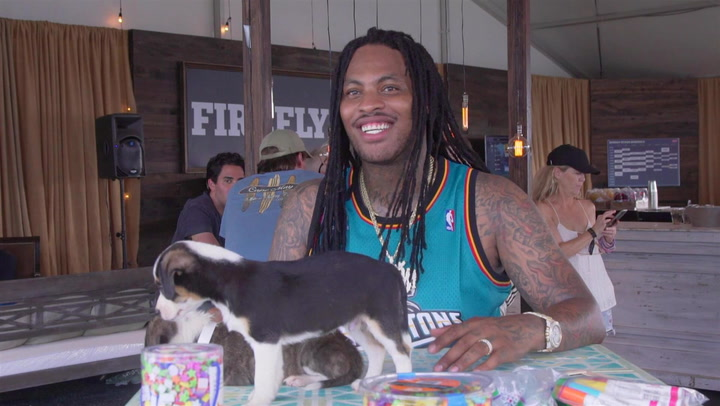Waka Flocka Flame Plays With Puppies, Isn't About That 'Climbing Charts Rap' Life