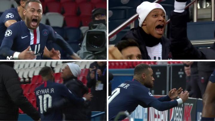 Champions League: PSG - Borussia Dortmund. La alegría desenfrenada de Neymar contagió a Mbappé