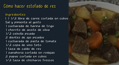 Cocinando con Mayte: Cómo hacer estofado de res