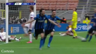 Inter vence 1-0 a Cagliari, restablece liderato de 11 puntos