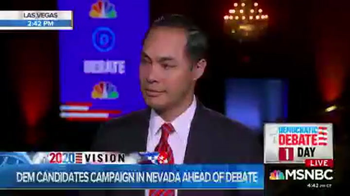 Julián Castro: Bloomberg Is Trump's 'Wet Dream'