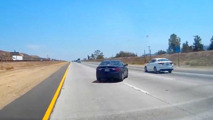 Sjåfør med livsfarlig manøver på motorveien