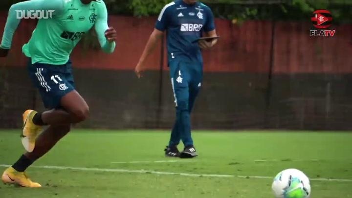 Flamengo training for game against Bahia
