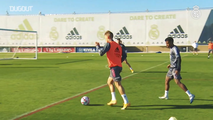 High-intensity training ahead of the Champions League