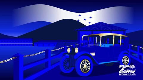 Llega el Primer automovil a Honduras