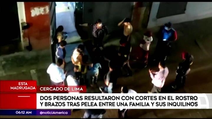 Enfrentamiento entre una familia y sus inquilinos deja dos heridos con cortes en el rostro