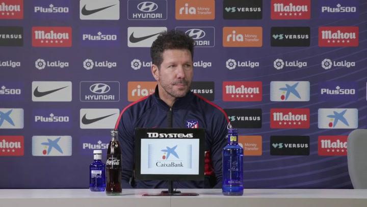La rueda de prensa de Simeone, previa al partido contra el FC Barcelona