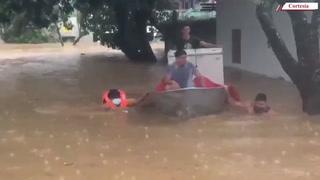 Se desborda río Tegucigalpita en Omoa, Cortés