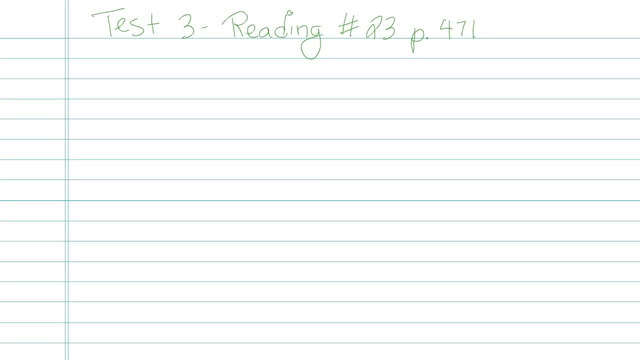 Test 3 - Reading - Question 23