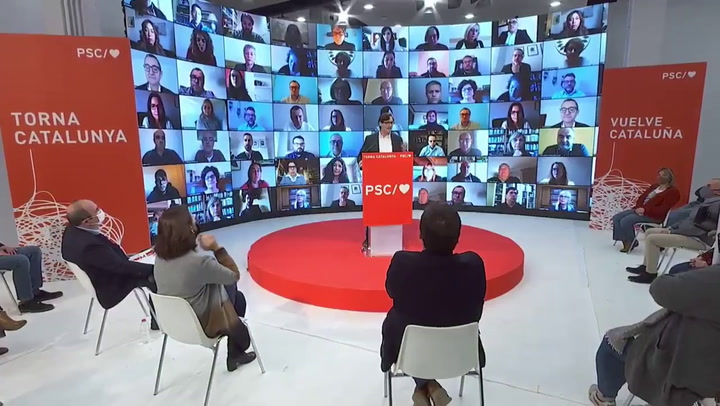Primer mitin de Salvador Illa como candidato a la Generalitat de Catalunya