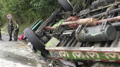 Al menos ocho muertos por accidente de autobús en Colombia