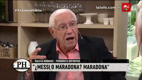 A quién eligió Macaya Márquez entre Maradona y Messi