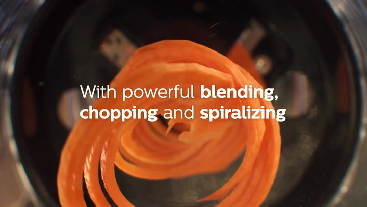 Preview image of Philips ProMix Spiralising Hand Blender, 800W - cu video