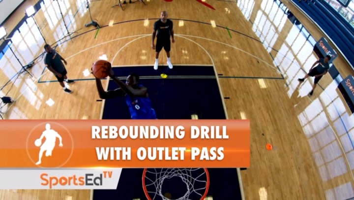 Rebounding Drill With Outlet Pass