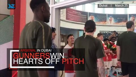 When Arsenal players won hearts in Dubai