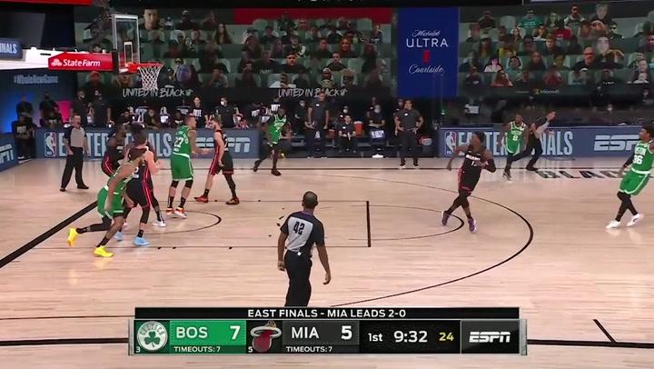 Jayson Tatum jugador destacado de la jornada de la NBA (19/09/2020)