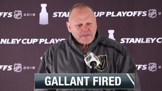 Golden Knights head coach Gerard Gallant fired, replaced by ex-Sharks coach Peter DeBoer – Video