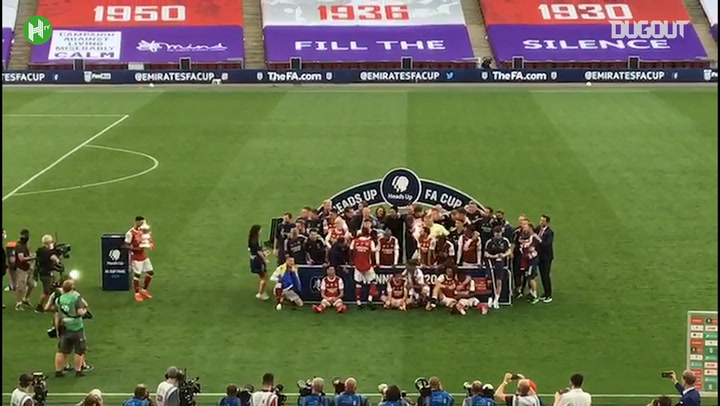 Arsenal lift the 2020 FA Cup