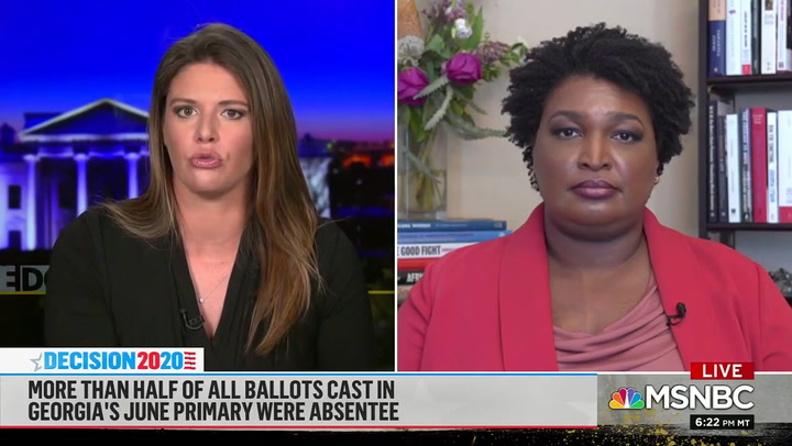Stacey Abrams: Trump Casting Doubt on Election Results to 'Distract Us From the Fact That This Is a Failed Presidency'