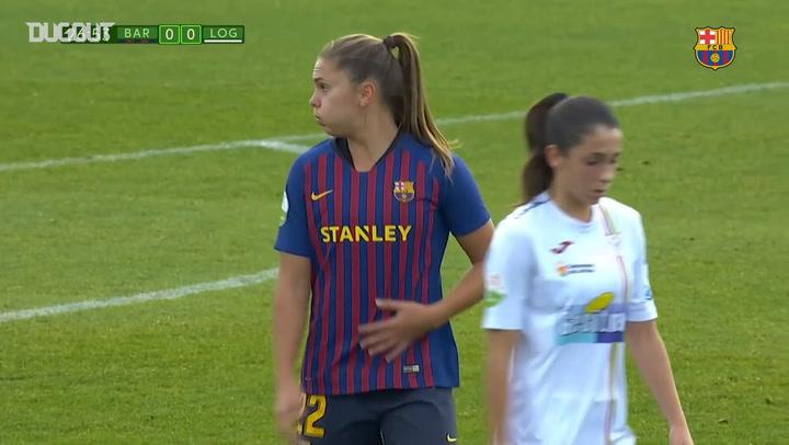 Highlights: FC Barcelona Femení 2-0 EDF Logroño