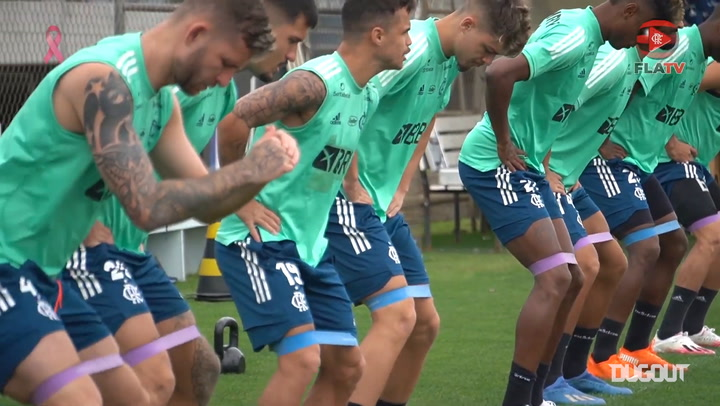 Flamengo start training to Athletico-PR clash in the Brazilian Cup