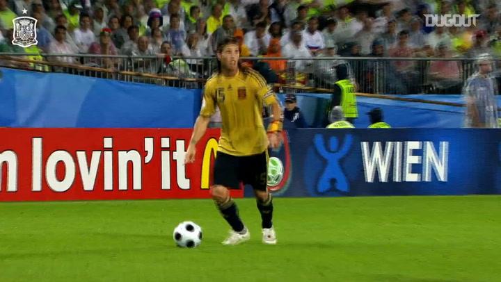 El gol de Dani Güiza ante Rusia en las semifinales de la Eurocopa 2008