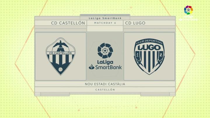 LaLiga SmartBank (J6): Resumen y gol del Castellón 0-1 Lugo