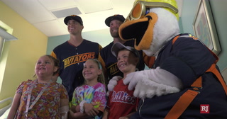 Aviators Visit Children at Summerlin Hospital