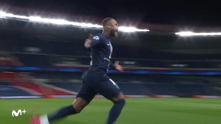 Champions League: PSG - Borussia Dortmund. Gol de Neymar (1-0)