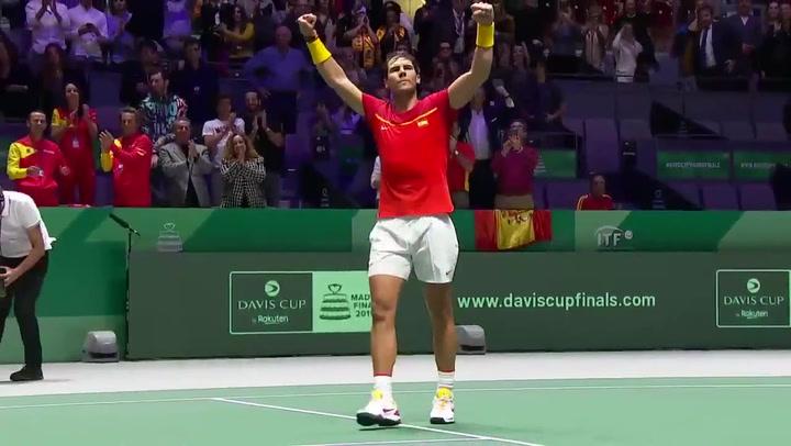 Rafa Nadal venció a Evans y el partido de dobles definirá al segundo finalista