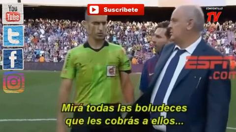 Me estás amenazando, la frase de Messi al árbitro que le costó muy caro