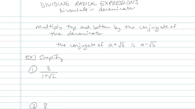 Dividing Radicals and Rationalizing the Denominator - Problem 10