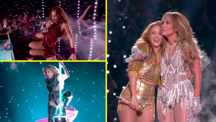 Shakira y JLO rompieron el escenario con este espectacular show durante el descanso