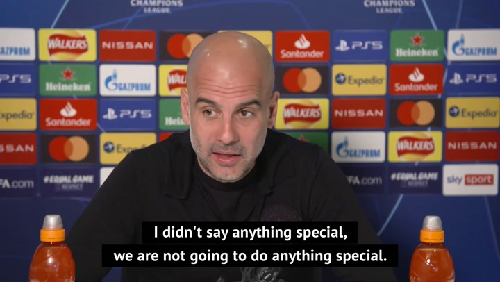 Guardiola calls on City players to be 'leaders' against Dortmund