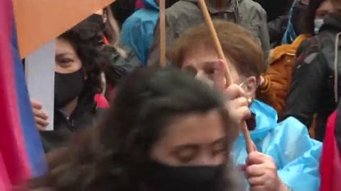 Manifestación armenia en Madrid pide la paz en Nagorno Karabaj