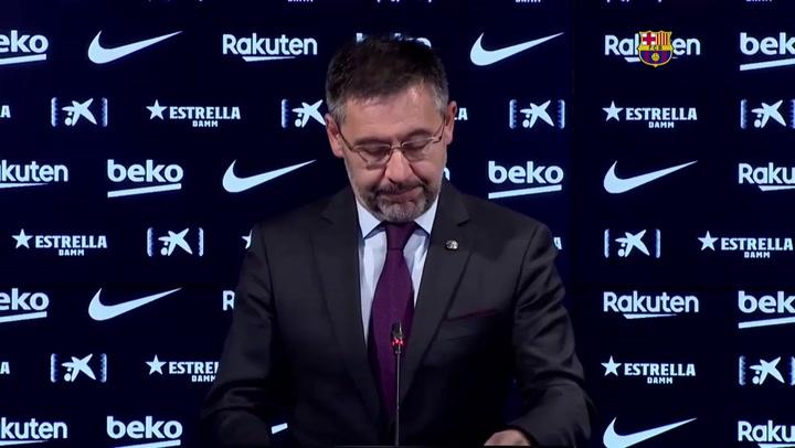 """Bartomeu carga con dureza contra la Generalitat por """"irresponsable"""""""