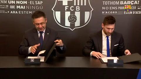 Messi firmó en Barcelona hasta 2021 y se achican las chances de volver a Newells